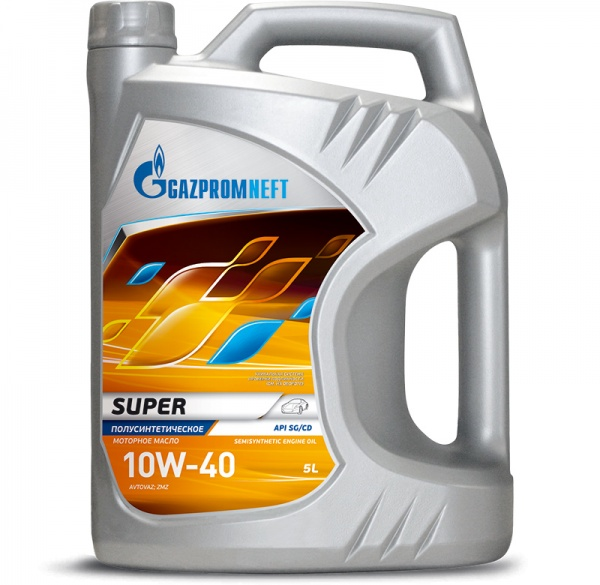 Gazpromneft Super 10W-40 кан.5л (4 374 г) ЯНОС ГПн