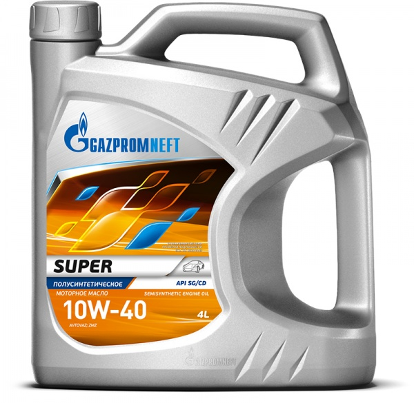 Gazpromneft Super 10W-40 кан.4л (3 499 г) ЯНОС ГПн